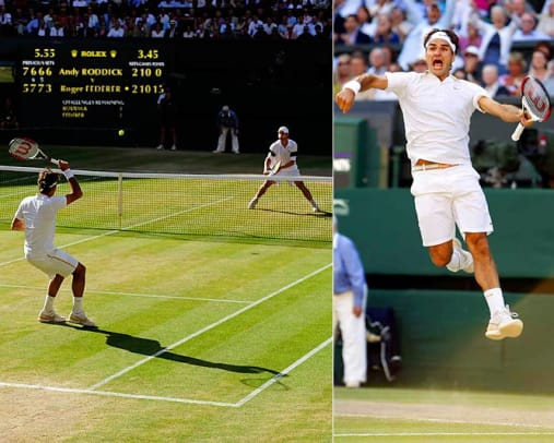 Great Overtime Moments in Sports - 16 - Andy Roddick-Roger Federer