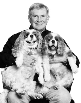 Sports Figures and their Dogs - 1 - Mack Brown, Football Coach, Texas