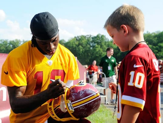 NFL Players with Fans at Training Camp - 32 - Robert Griffin III