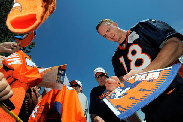 NFL Players with Fans at Training Camp - 2 - Peyton Manning