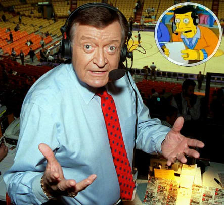 Sports Figures on <i>The Simpsons</i> - 51 - Chick Hearn