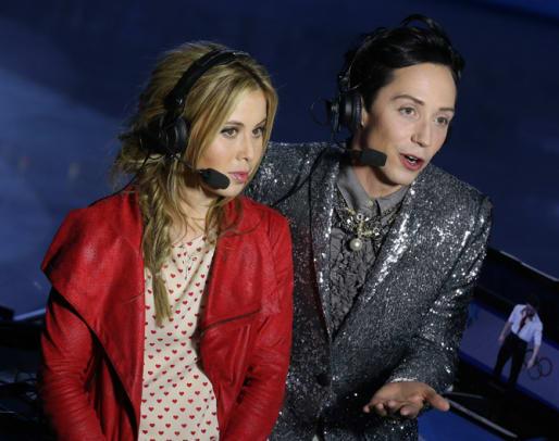 Sochi Stars Johnny Weir and Tara Lipinski - 2 - Slide Title