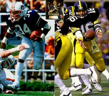 Heisman Moments: Closest Finishes - 1 - Auburn's Bo Jackson over Iowa's Chuck Long by 45 points (1985)