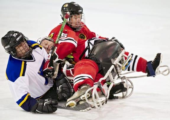Sled Hockey - 1 - Jason Malady (left), Richard Bryne (center)