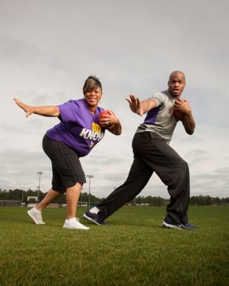 Adrian Peterson and His Track Star Mom Bonita Jackson's SI Kids Photoshoot - 2 - Bonita Jackson and Adrian Peterson