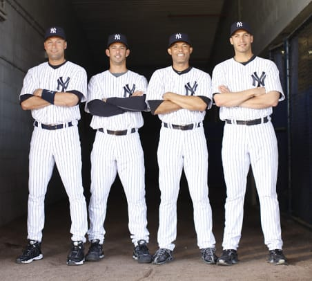 Rare Photos of Mariano Rivera - 18 - Derek Jeter, Jorge Posada, Mariano Rivera and Andy Pettitte