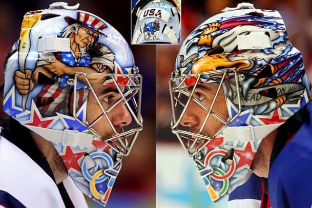 Winter Olympics Goalie Masks - 1 - Ryan Miller