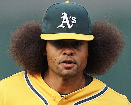 Best Hairstyles in Sports History - 1 - Coco Crisp