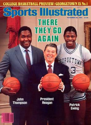 Back in Time: April 2 - 1 - John Thompson, Ronald Reagan, Patrick Ewing