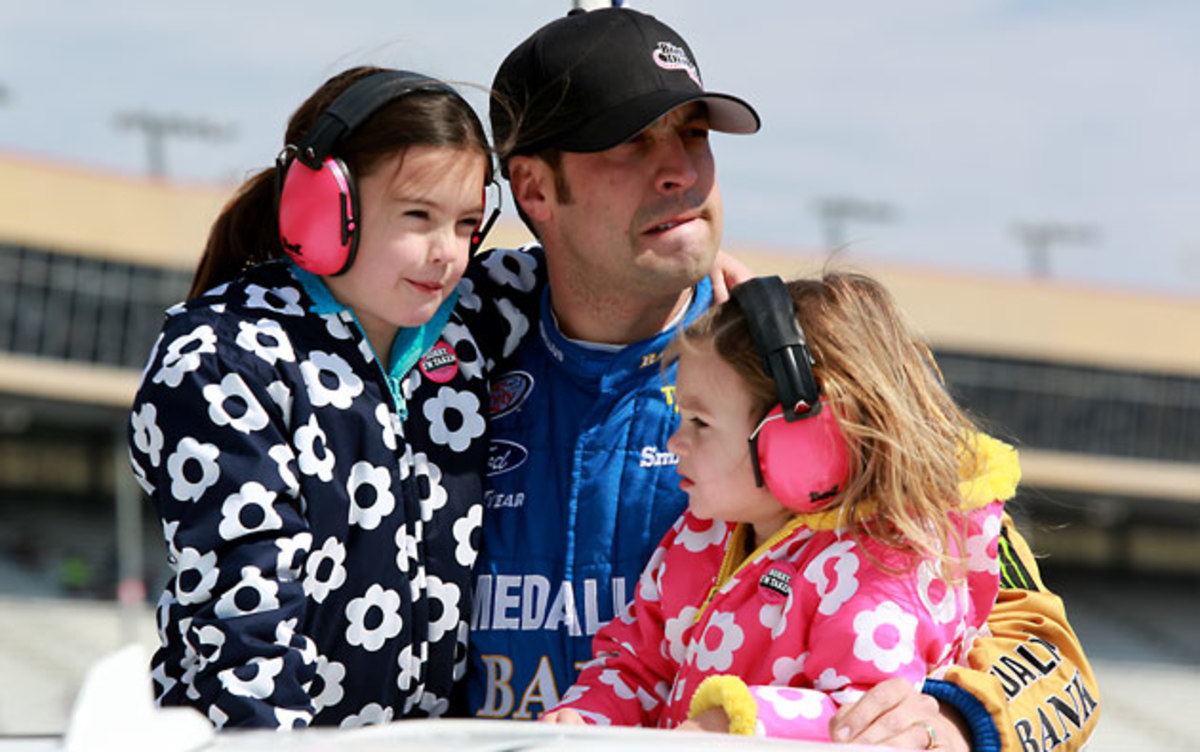 Hornish with hs daughters Addison, left, and Eliza Jo in Feb. 2015.