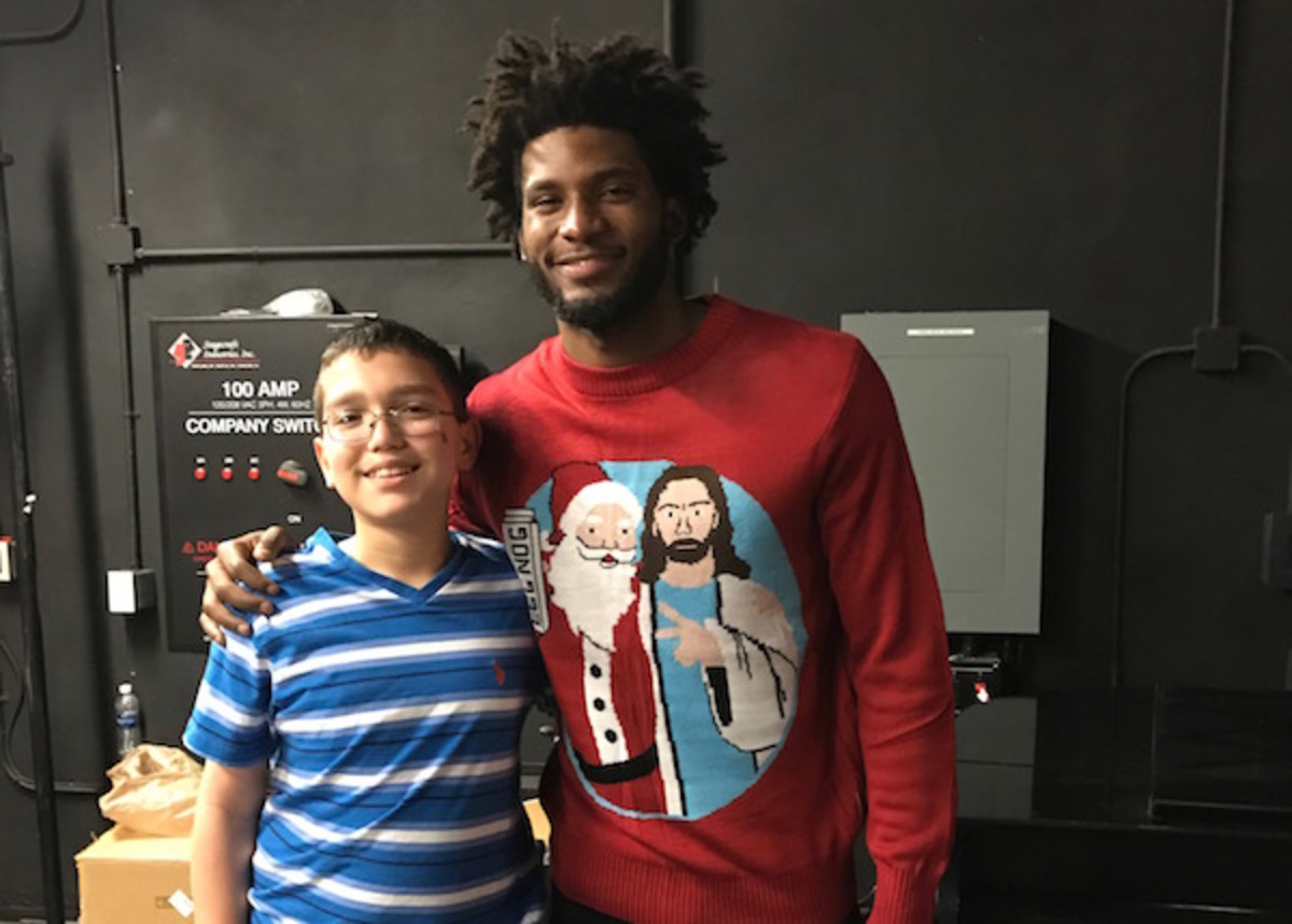 Kid Reporter Dylan Goldman and Justise Winslow