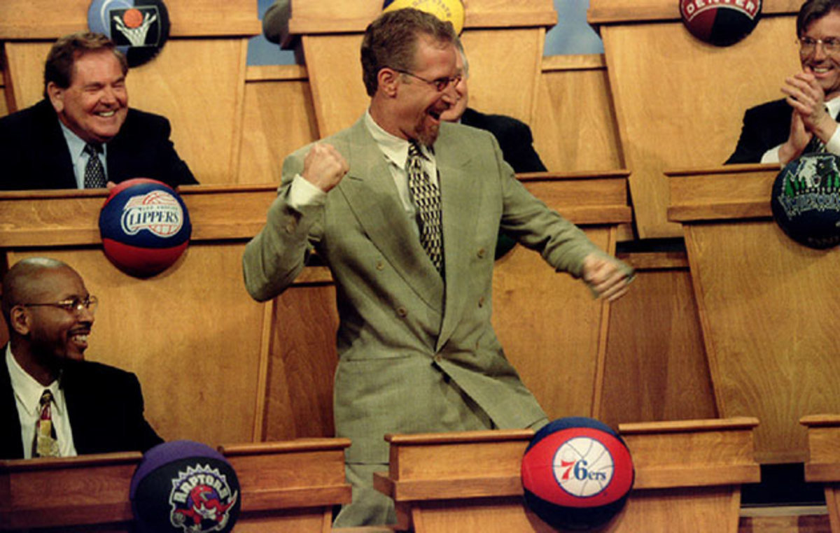 Croce's emphatic celebration at the 1996 draft lottery is one of the lasting images of his time with the Sixers.