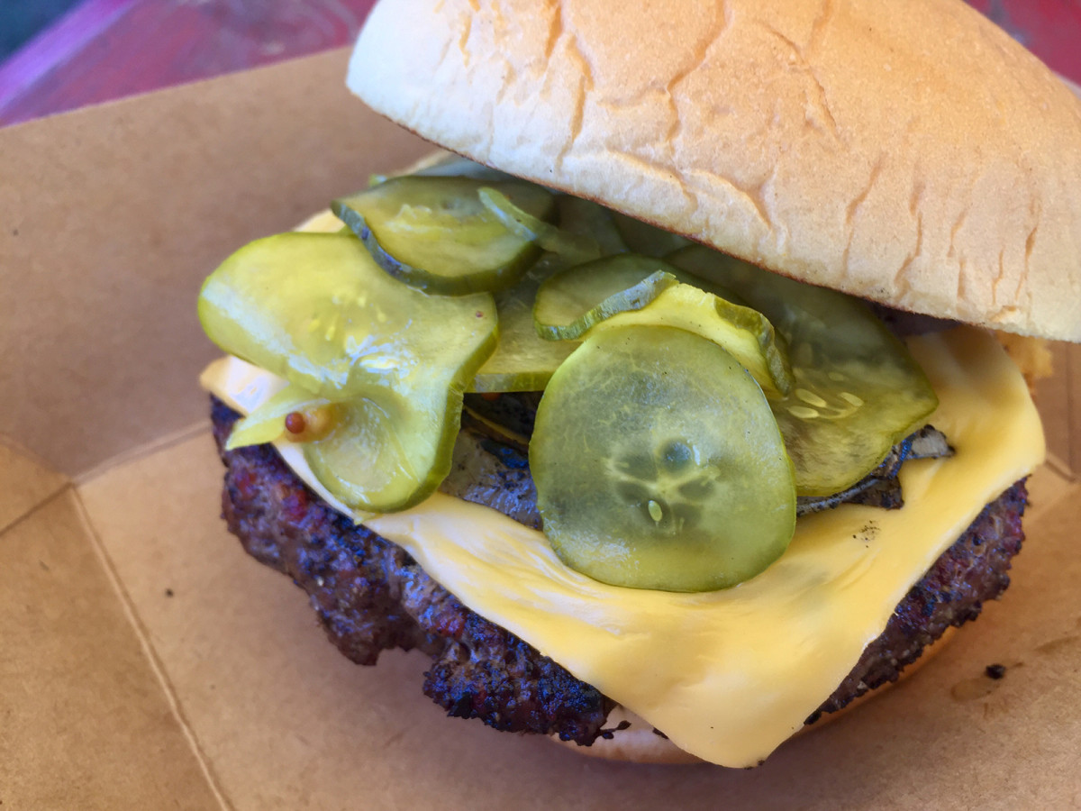 The ground brisket burger from LeRoy and Lewis.