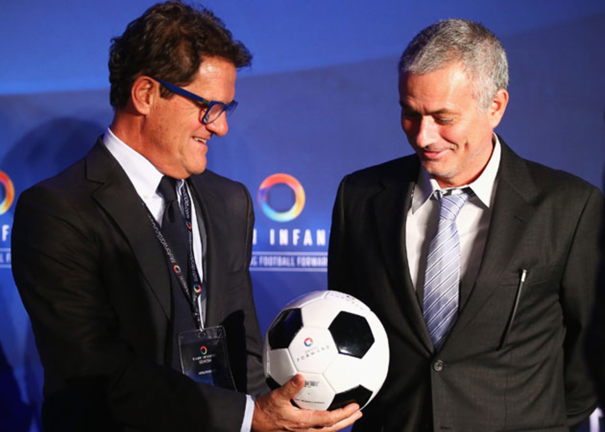 From left, Fabio Capello and Jose Mourinho are two of the managers to have the greatest influence on Zlatan Ibrahimovic.