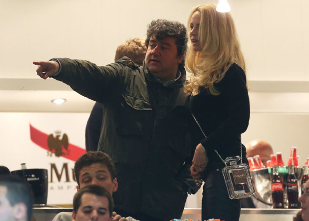 From left, Zlatan Ibrahimovic's agent, Mino Raiola, and his partner, Helena Seger.