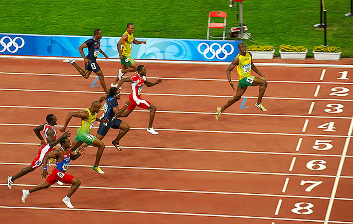 Usain Bolt crushed the field in the 2008 Beijing Olympics, setting a new world record in the process.