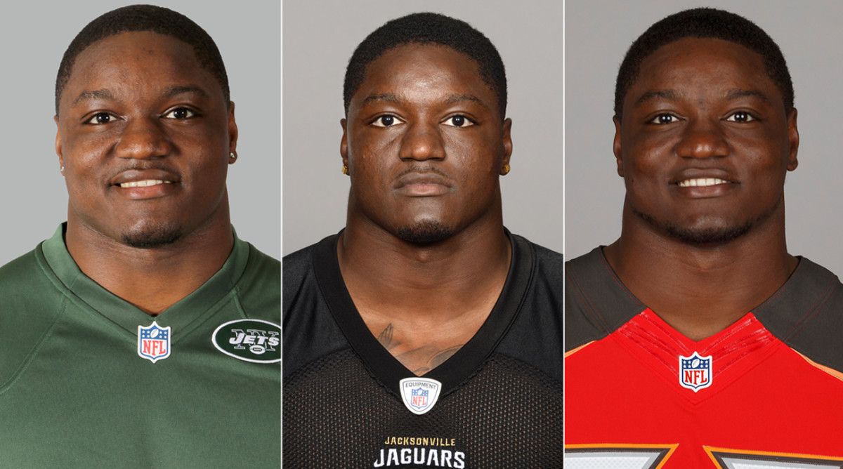 George as a Jet in 2014, a Jag in 2015 and a Buc in 2016.