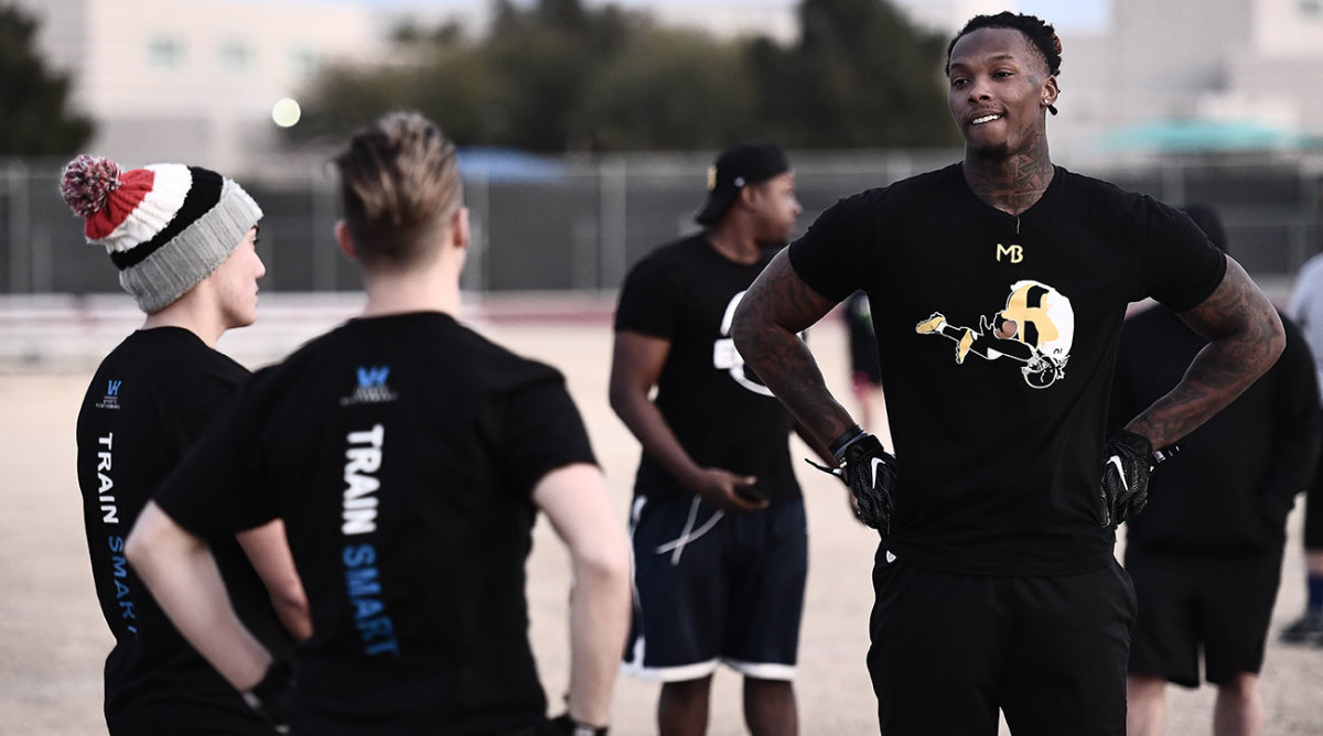 Aside from his moniker, Bryant has enjoyed helping out with Green Valley's football team for a new perspective on the game.