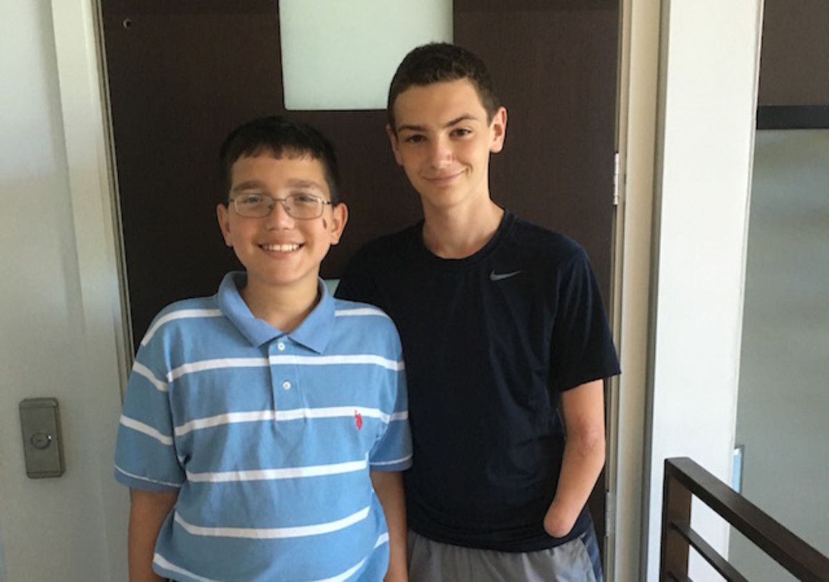 Kid Reporter Dylan Goldman and Michael Stolzenberg