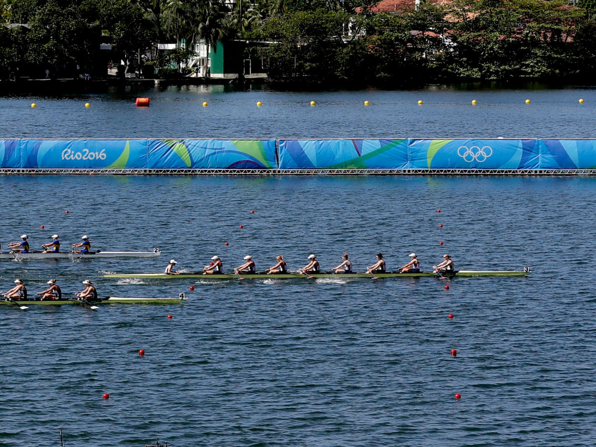 U.S. rowing women's eight ahead of the competition in the final.
