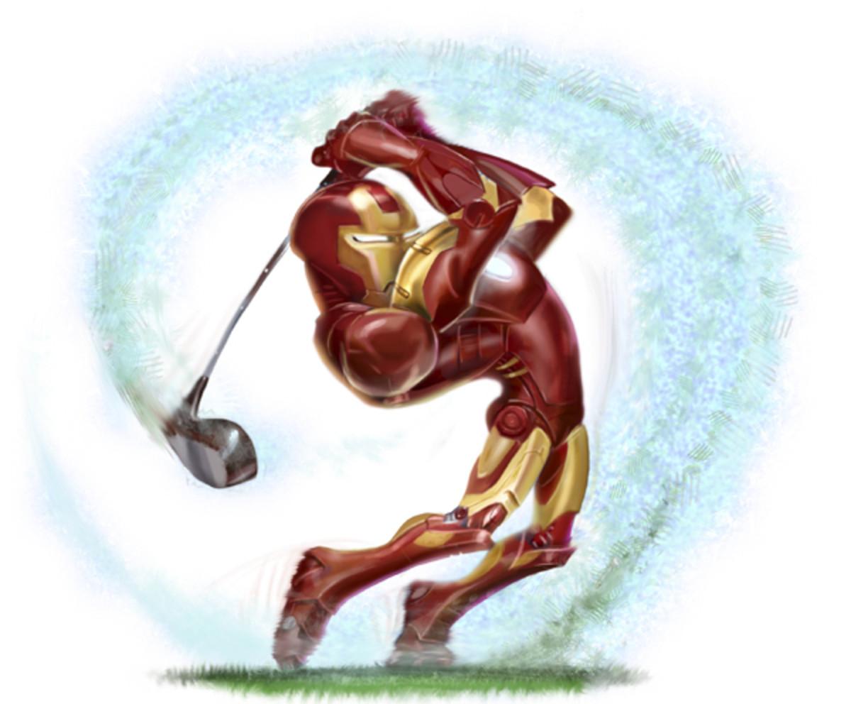 iron man as a golfer