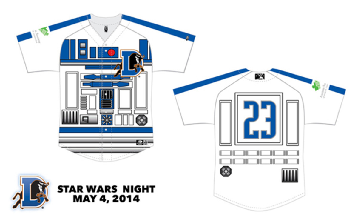 durham bulls r2-d2 jersey star wars night