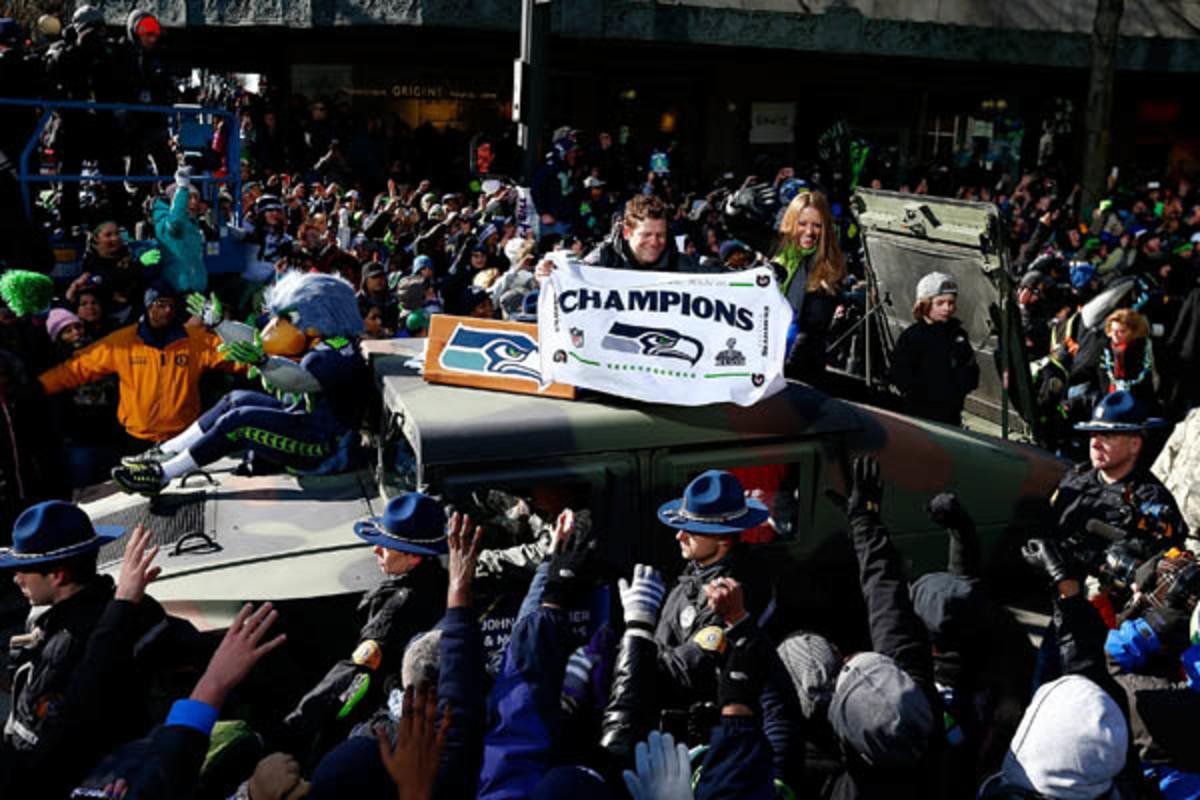 seattle seahawks super bowl xlviii parade