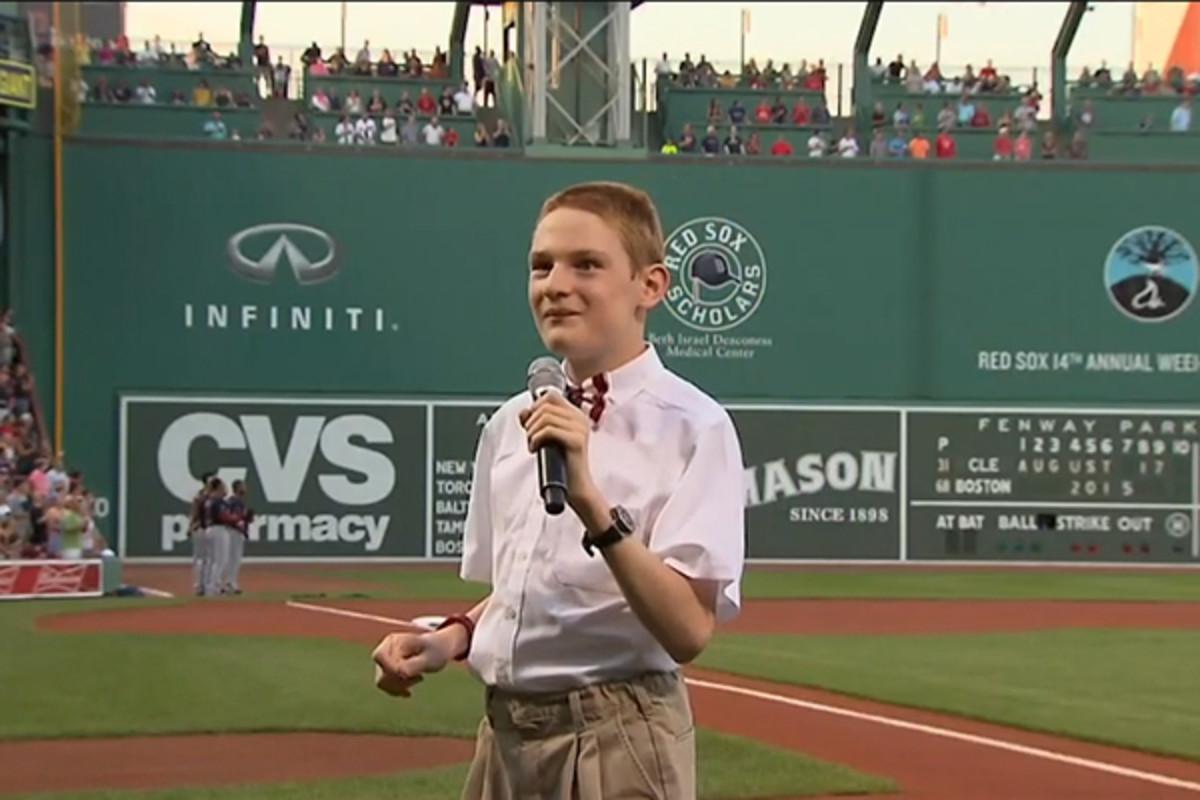 Christopher Duffley fenway park national anthem