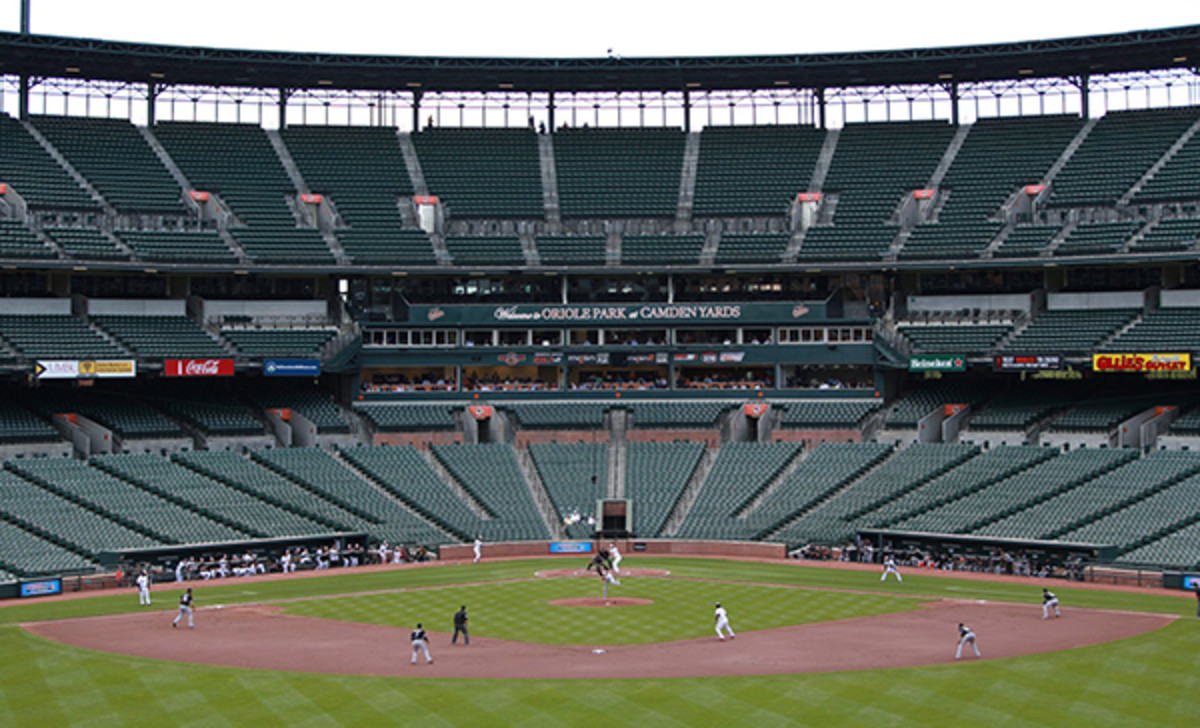 baltimore orioles chicago white sox empty stadium