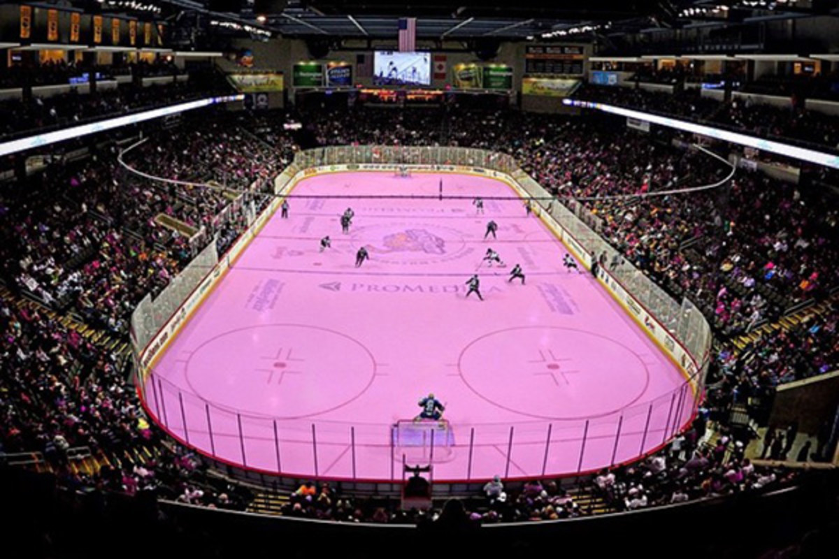 toledo walleye pink in the rink
