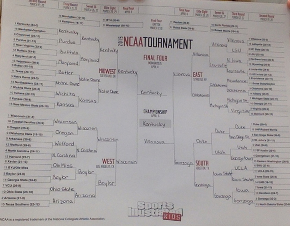 march madness bracket olivia d'angelo