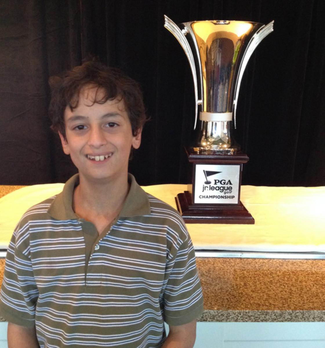 pga junior league golf championship trophy