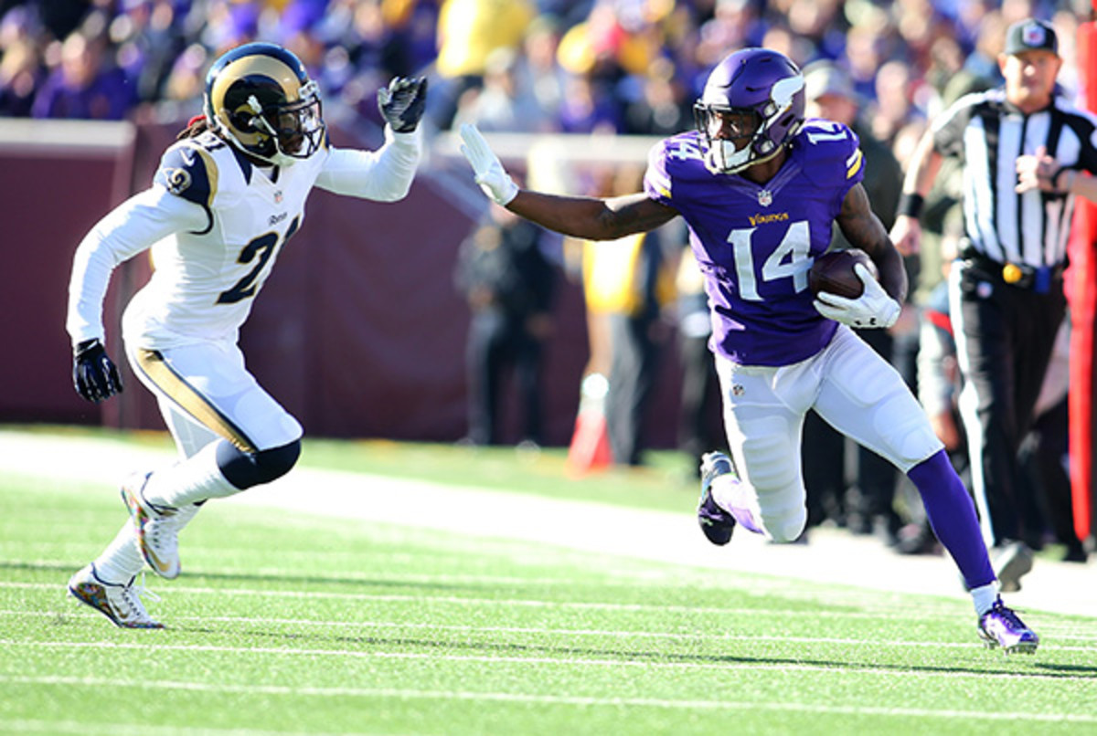 fantasy football 2015 risers and sliders stefon diggs
