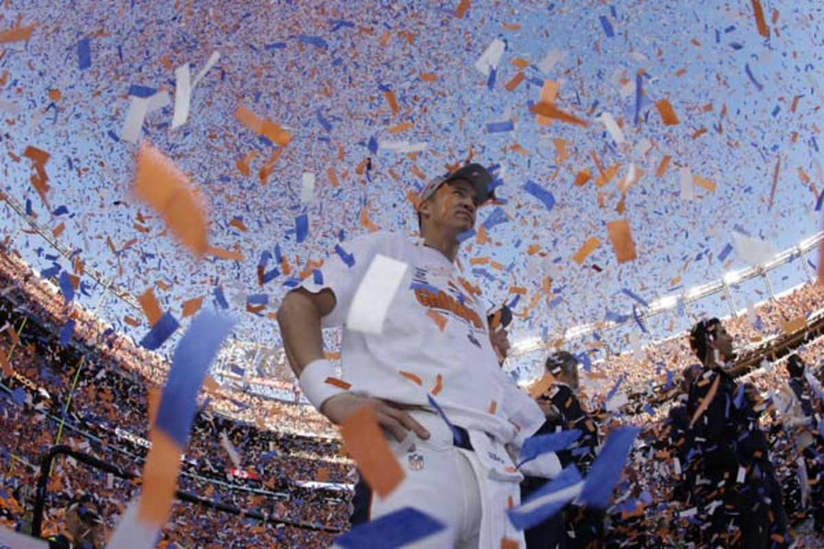 afc championship denver broncos peyton manning confetti