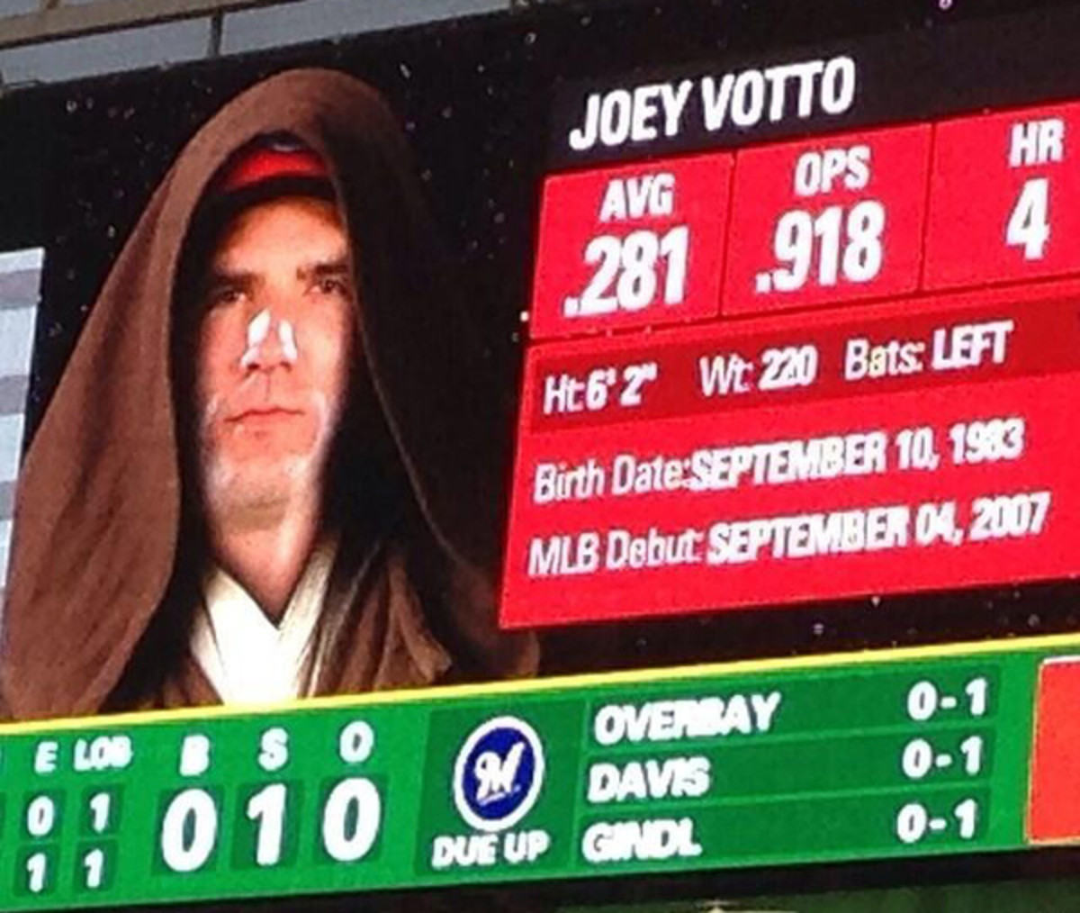 star wars baseball 2014 joey votto reds scoreboard