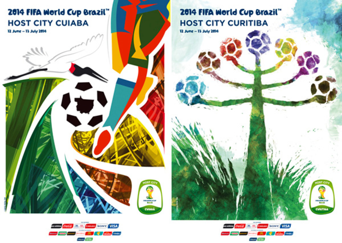 2014 world cup host cities posters