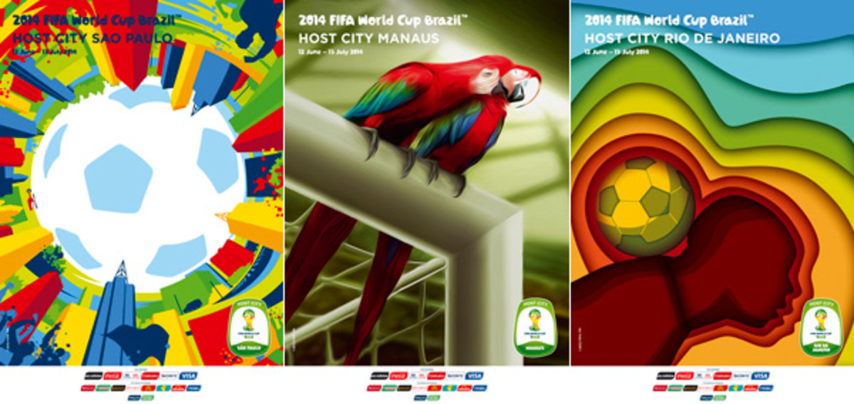 world cup 2014 host cities posters