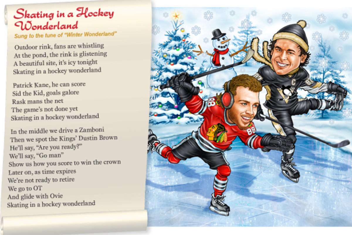 holiday songs hockey wonderland