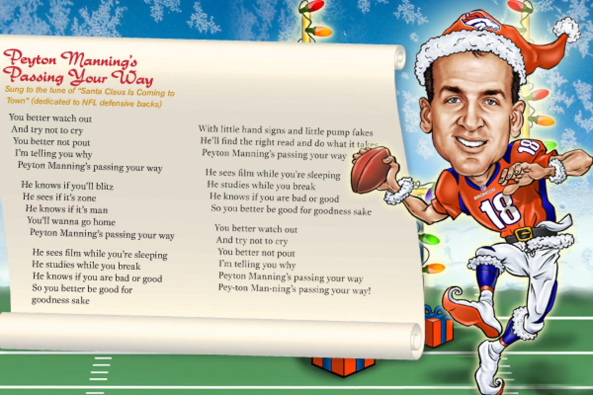 peyton manning holiday song