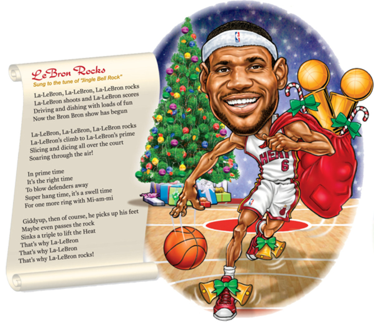 holiday songs lebron rocks
