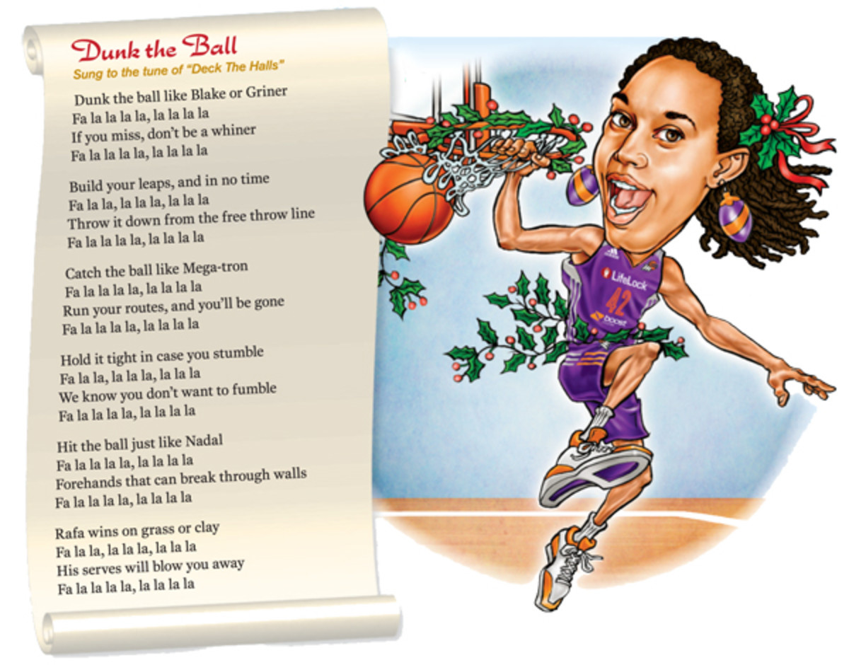 holiday songs dunk the ball