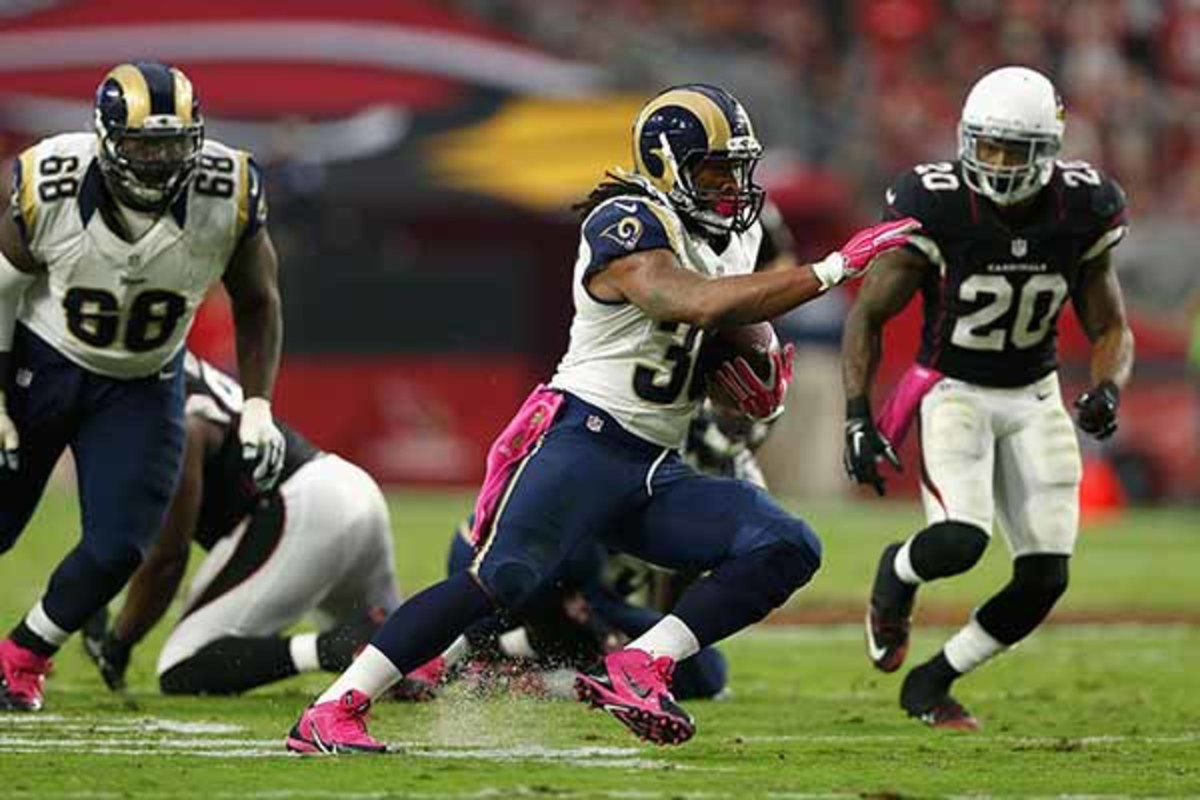 fantasy football 2015 week 5 risers sliders todd gurley