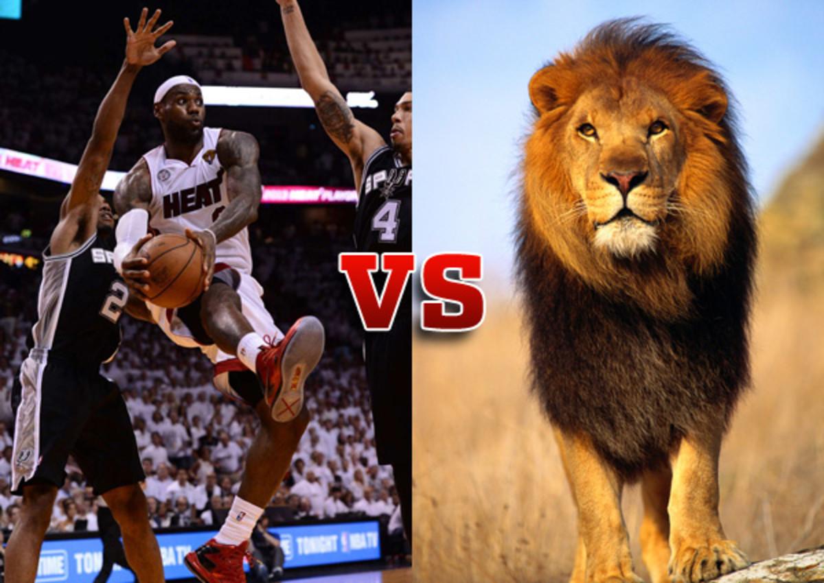 lebron james vs a lion