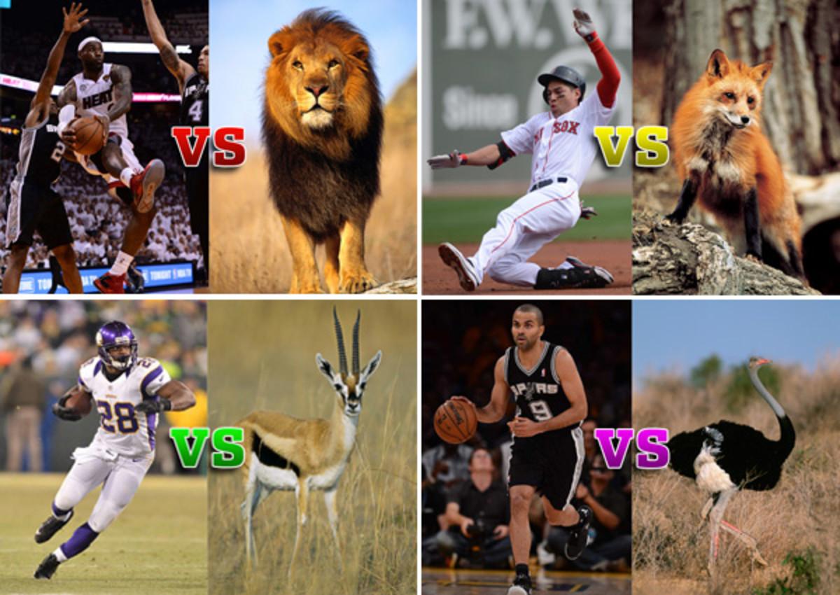 athletes vs animals