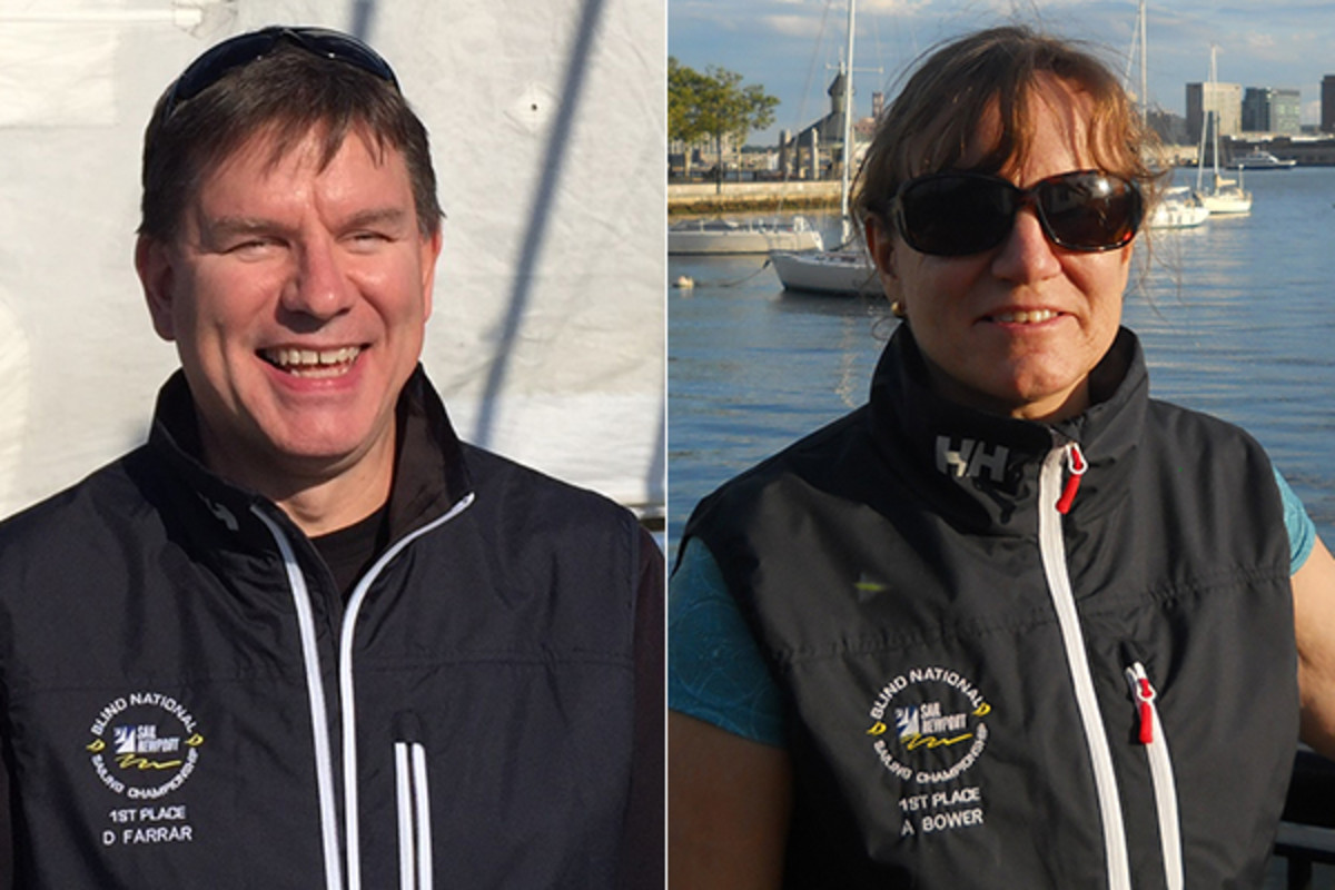 blind sailing champions duane farrar amy bower