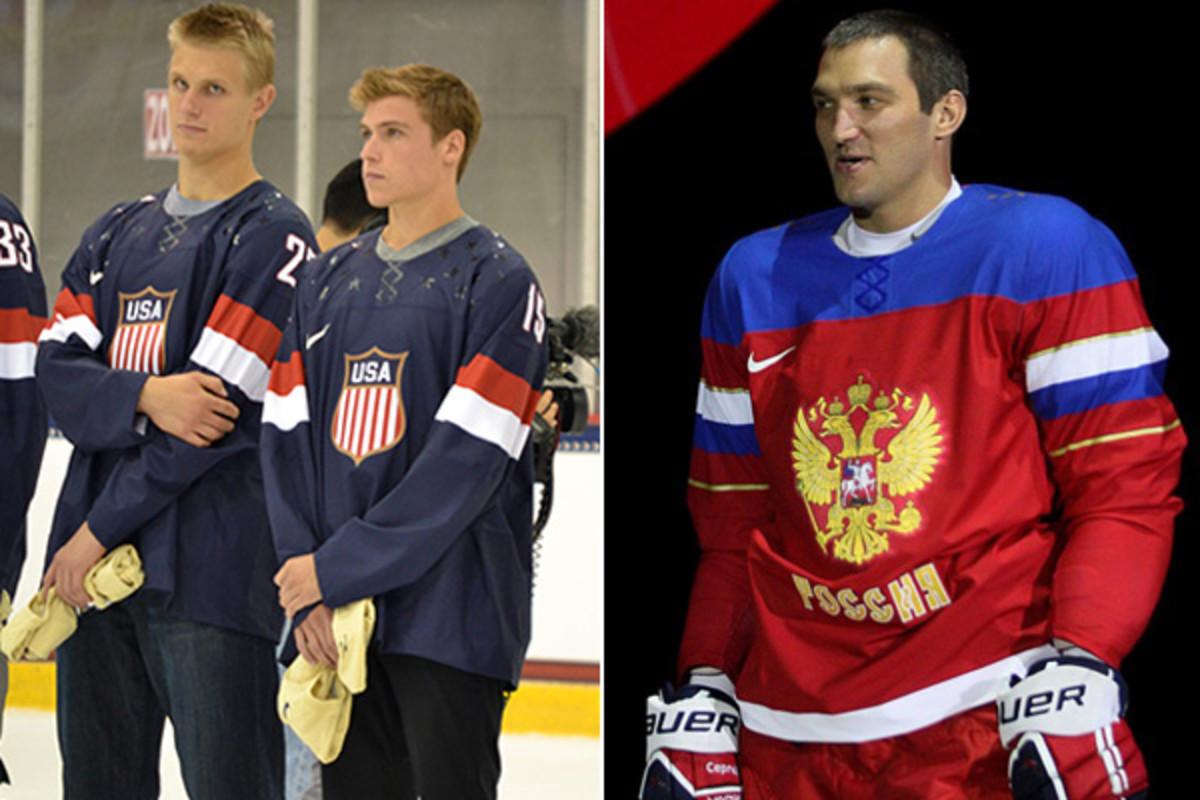 team usa team russia 2014 olympic jerseys