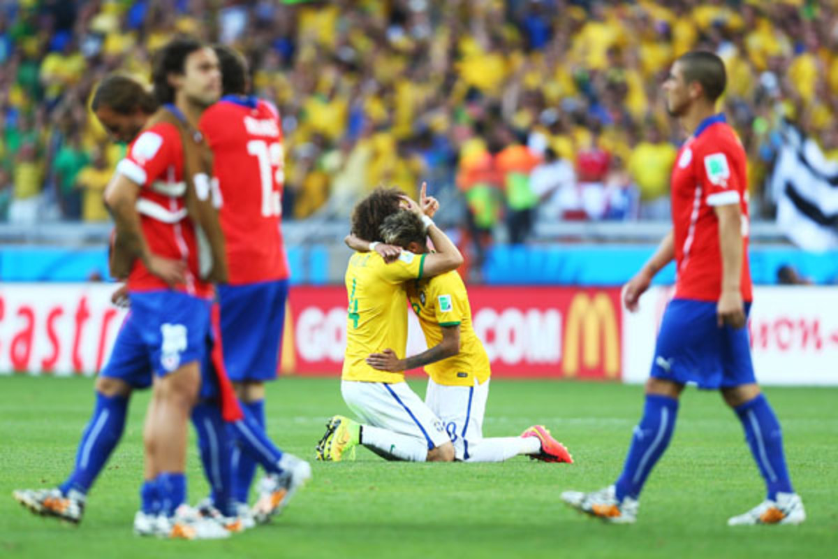 2014 world cup brazil chile knockout round