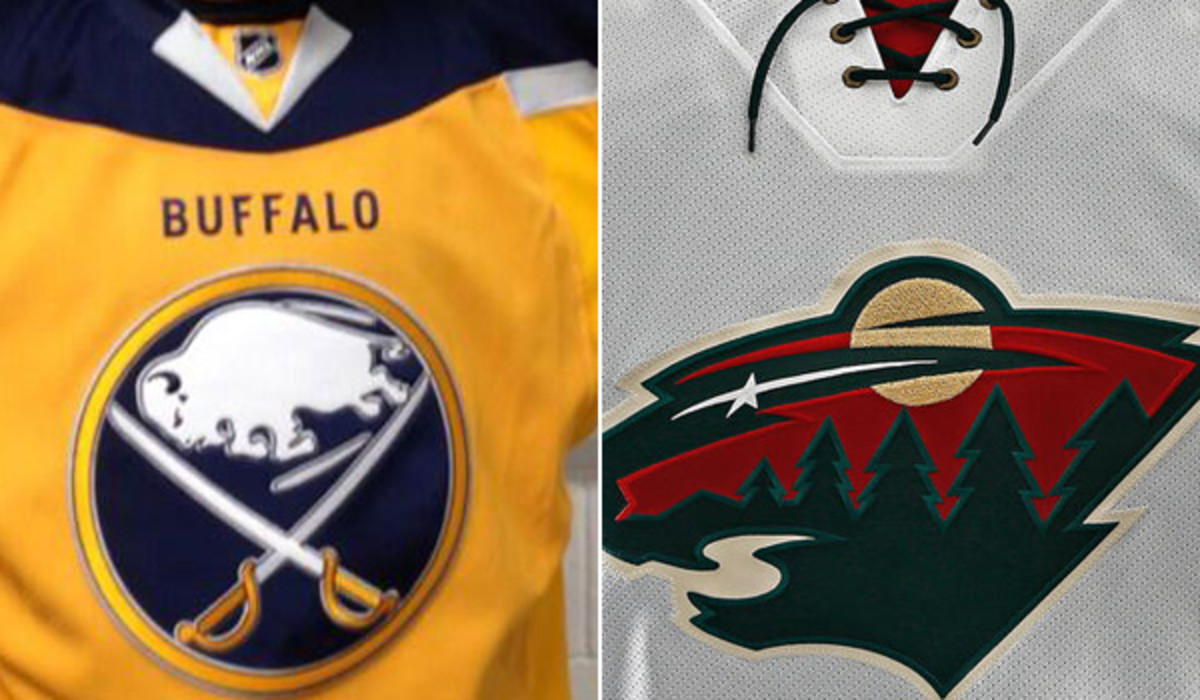 new sabres and wild jerseys