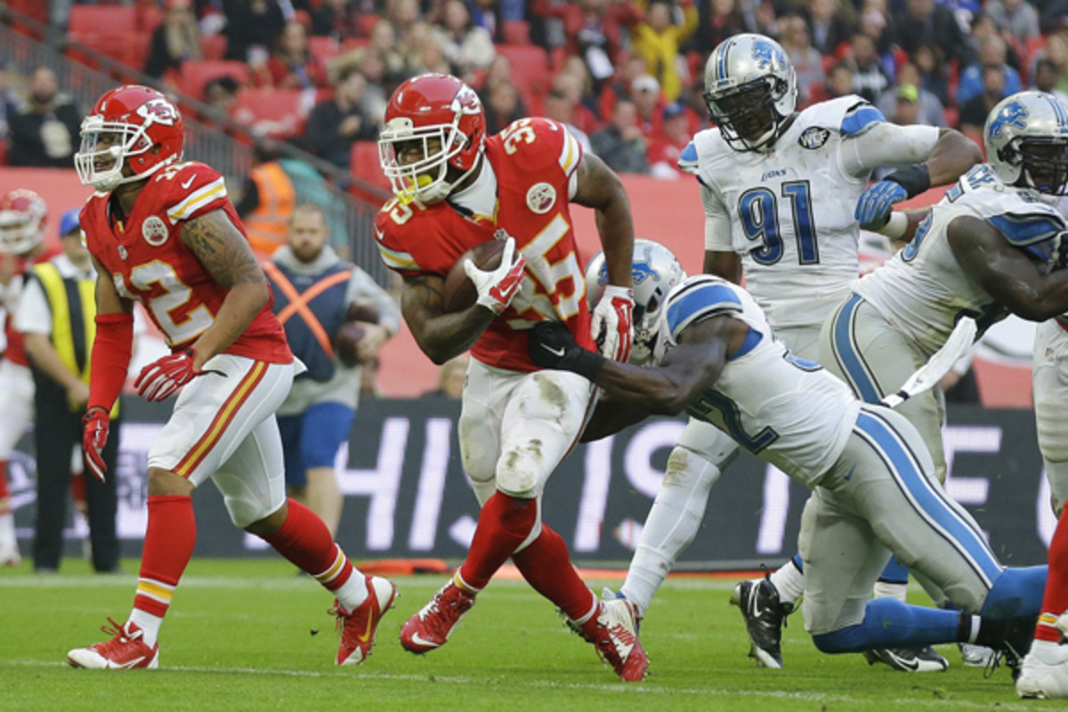 fantasy football 2015 week 13 risers Charcandrick West