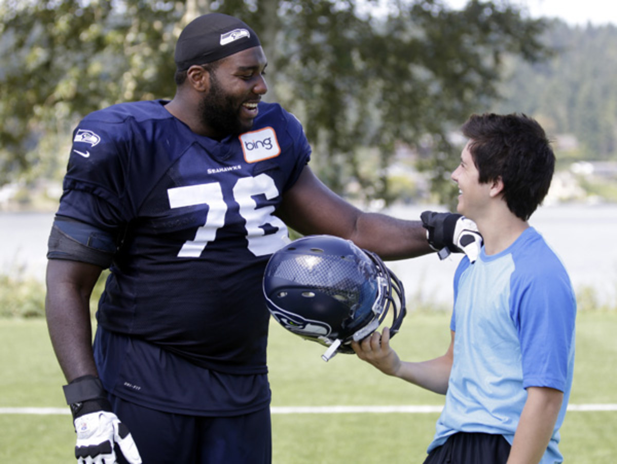 billy unger and seahawks russell okung